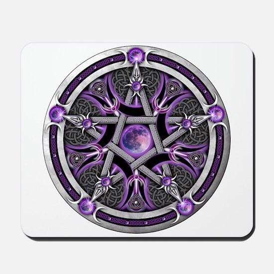 Pentacle of the Purple Moon Mousepad