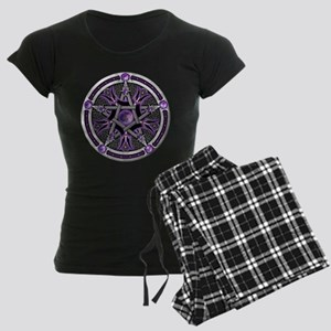 Pentacle of the Purple Moon Women's Dark Pajamas