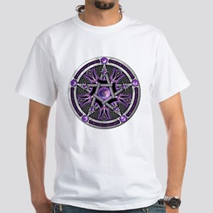 Pentacle of the Purple Moon White T-Shirt