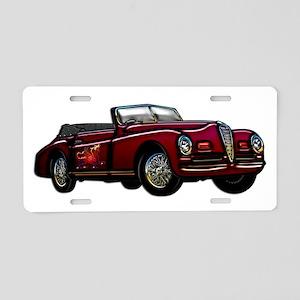 Large Convertible Classic Car Aluminum License Pla