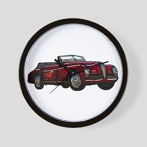 Large Convertible Classic Car Wall Clock