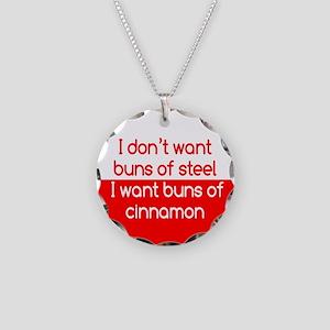 Cinnamon Buns Necklace Circle Charm