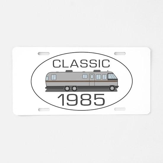 Classic Airstream Motor Home Aluminum License Plat
