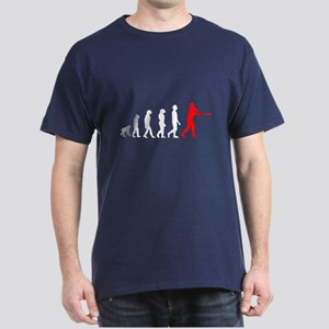 Baseball Evolution Red White Dark T-Shirt