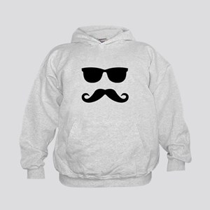 glasses and mustache Kids Hoodie