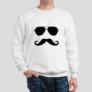 glasses and mustache Sweatshirt