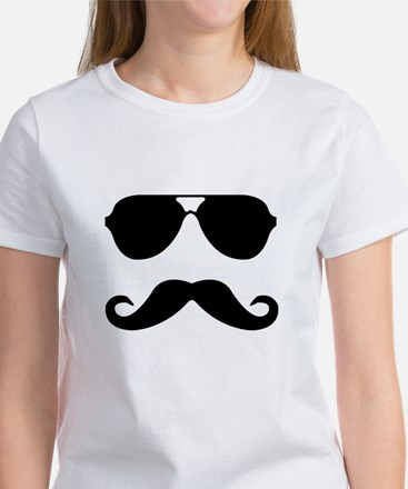 glasses and mustache Women's T-Shirt