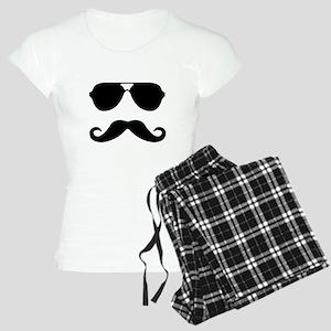 glasses and mustache Women's Light Pajamas