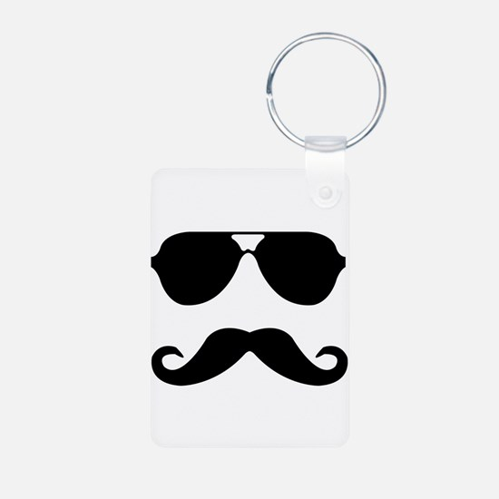 glasses and mustache Keychains