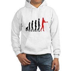 Baseball Evolution Tall Red Hoodie