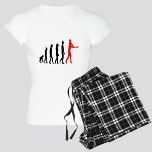 Baseball Evolution Tall Red Women's Light Pajamas