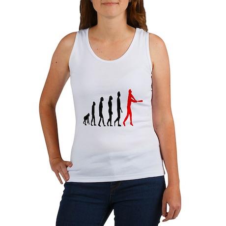 Baseball Evolution Tall Red Women's Tank Top