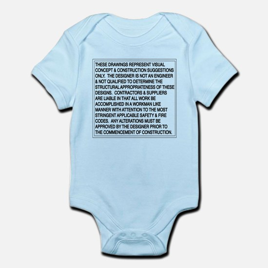 Designer Disclaimer Infant Bodysuit
