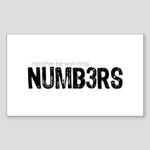 NUMB3RS Sticker (Rectangle)