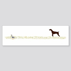 Solid Liver GSP on Chukar Sticker (Bumper)
