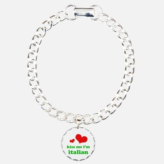 Kiss Me I'm Italiian Bracelet