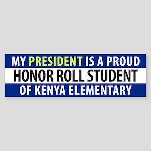Anti-Obama Kenya Elementary Sticker (Bumper)