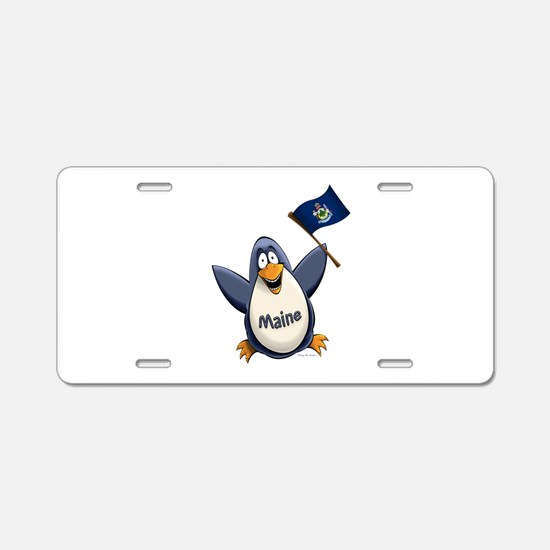 Maine Penguin Aluminum License Plate