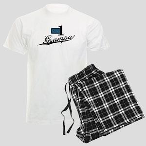 Number One Grampa Men's Light Pajamas