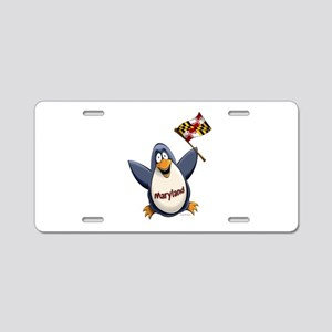 Maryland Penguin Aluminum License Plate