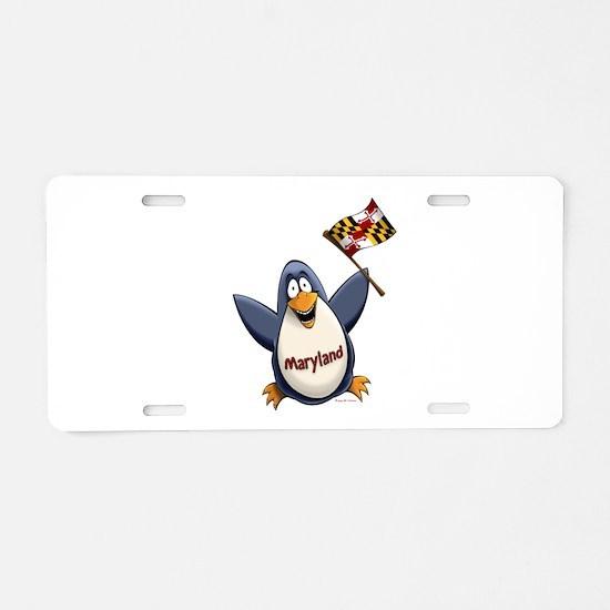 Maryland Penguin Aluminum License Plate