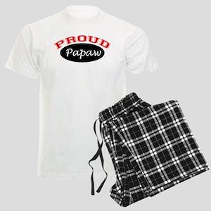 Proud Papaw (black and red) Men's Light Pajamas