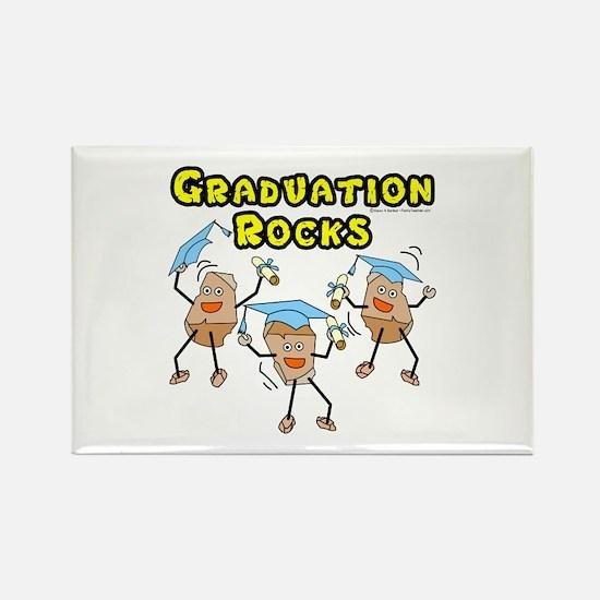 Graduation Rocks Rectangle Magnet
