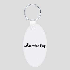 Service Dog Aluminum Oval Keychain