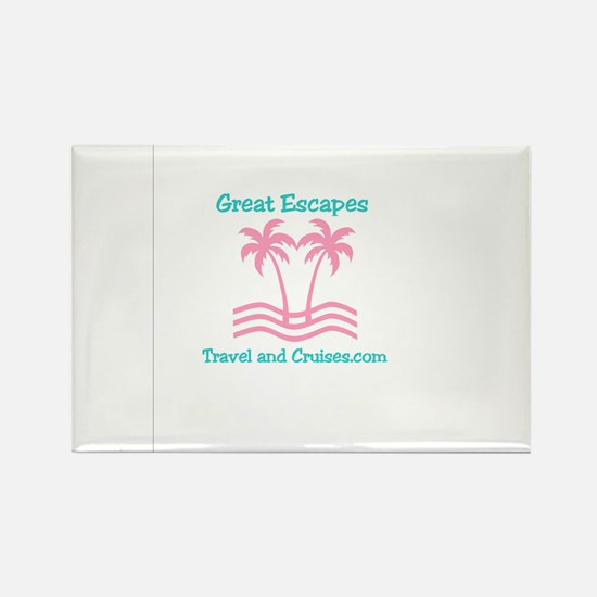 Cute Travel agent Rectangle Magnet