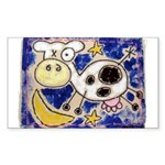 Cow Sticker (Rectangle 50 pk)