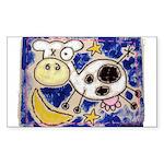 Cow Sticker (Rectangle 10 pk)