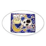 Cow Sticker (Oval 50 pk)