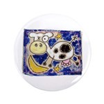 """Cow 3.5"""" Button (100 pack)"""
