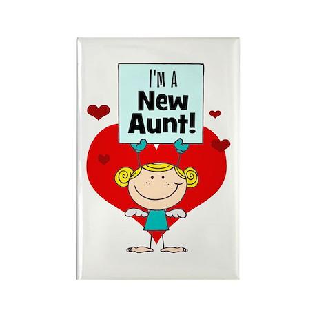 I'm A New Aunt Rectangle Magnet