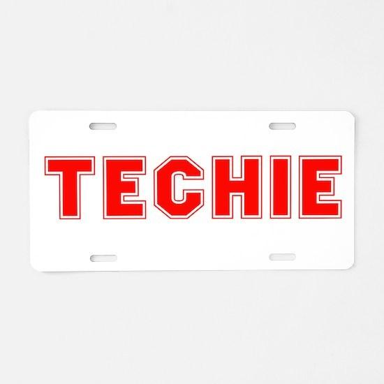 Techie Aluminum License Plate