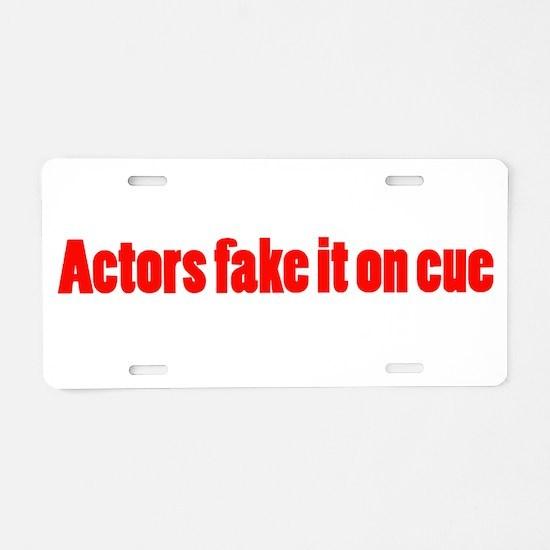 On Cue Aluminum License Plate