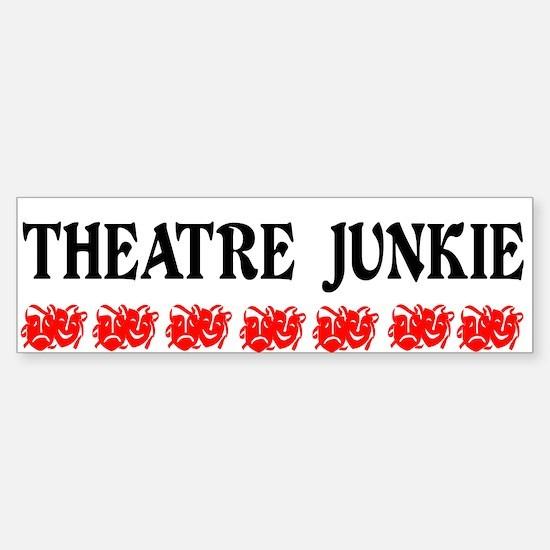 Theatre Junkie Sticker (Bumper)