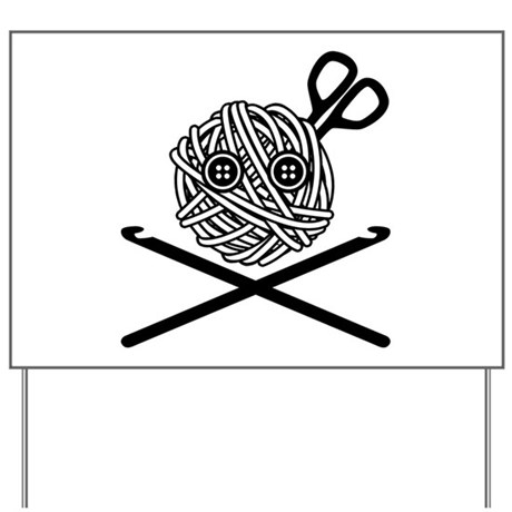 Pirate Crochet Yard Sign