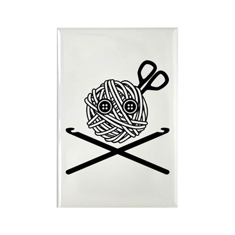 Pirate Crochet Rectangle Magnet