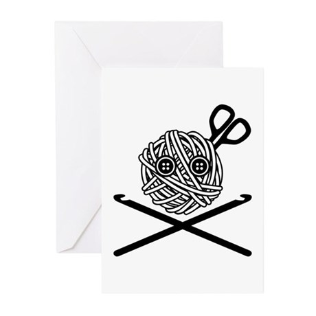 Pirate Crochet Greeting Cards (Pk of 10)