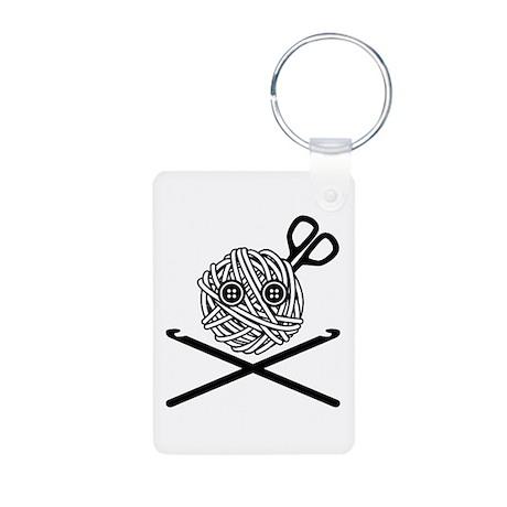 Pirate Crochet Aluminum Photo Keychain