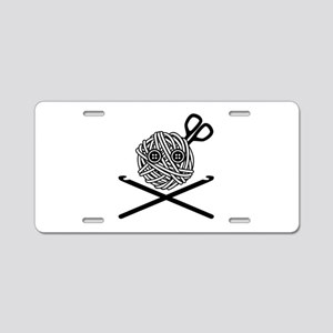 Pirate Crochet Aluminum License Plate