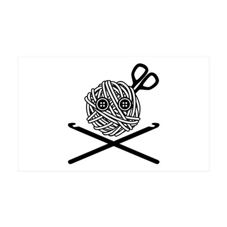 Pirate Crochet 35x21 Wall Decal
