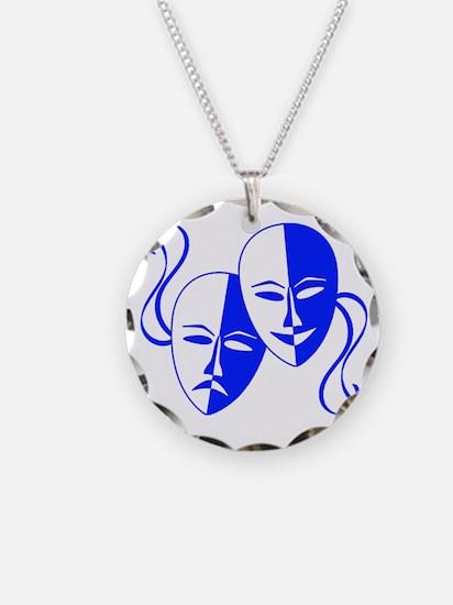 Blue Masks Necklace