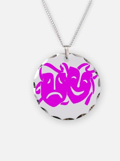 Pink Masks Necklace