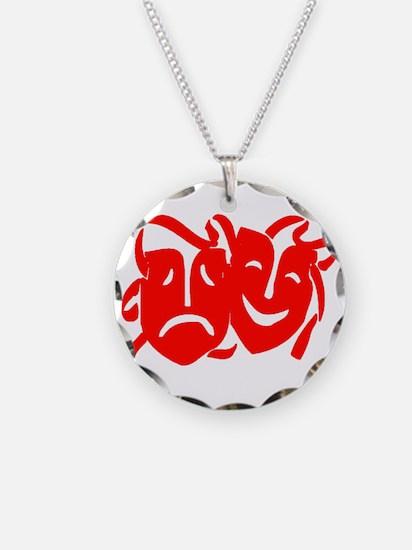 Red Masks Necklace