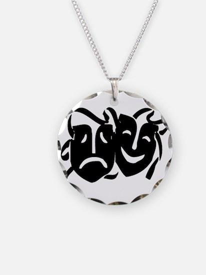 Black Masks Necklace