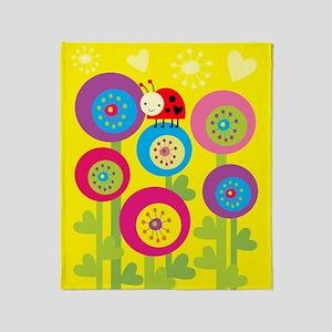Ladybug Sighting Throw Blanket