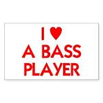 I LOVE A BASS PLAYER Sticker (Rectangle 10 pk)