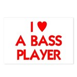 I LOVE A BASS PLAYER Postcards (Package of 8)